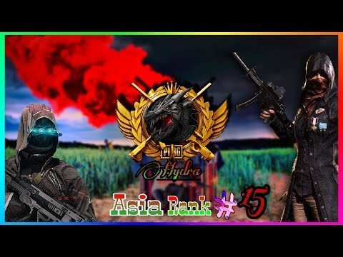 PUBG MOBILE   #15 RANKED PLAYER ASIA SERVER  TEAM HYDRA