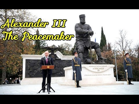 Putin Unveils Monument to the Great Russian Emperor Alexander III In Yalta