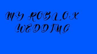 MY ROBLOX WEDDING!! | Roblox Live Stream