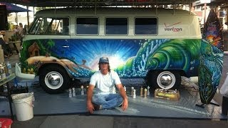 Live Painting Of A Vintage 1965 Vw Bus At Vans Us Open - Drew Brophy