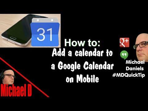 Add Calendar To Mobile Google Calendar