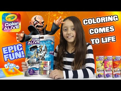 Thumbnail: COLORING BOOK COMES TO LIFE! Crayola Color Alive w/ Epic Special Effects Skylanders Fun!