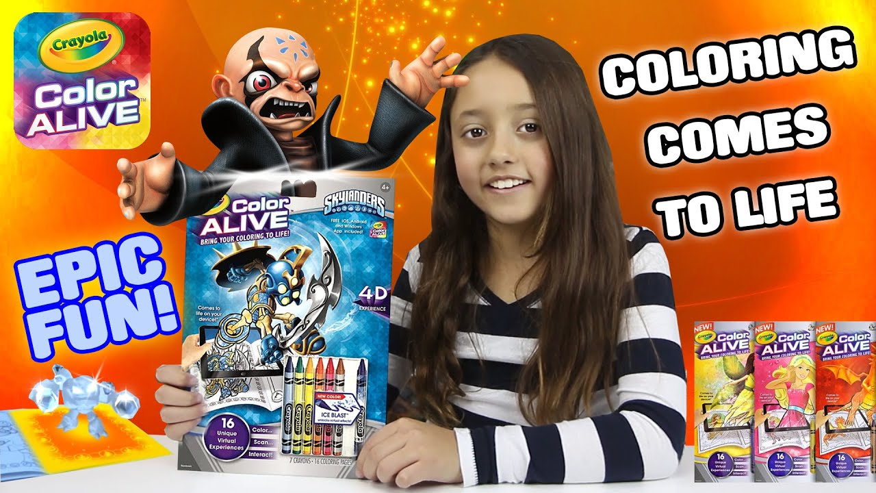 COLORING BOOK COMES TO LIFE Crayola Color Alive W Epic Special Effects Skylanders Fun
