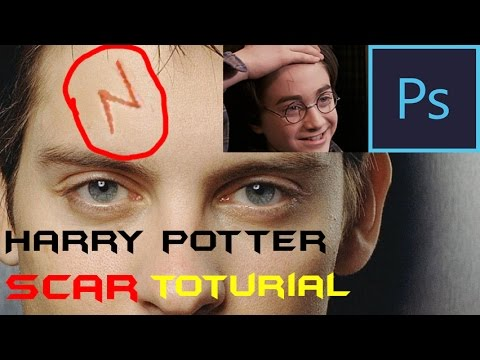 Harry Potter Scar Toturial Photoshop Cs6 Youtube