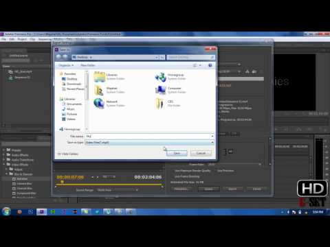 How To Render Video in Adobe Premiere Pro CS6