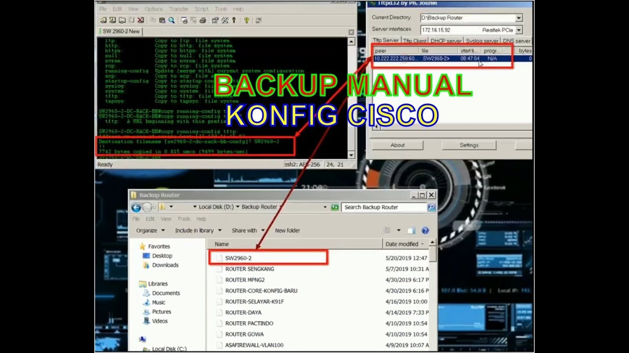 How to Backup the Cisco Device Configuration Manually using TFTPD32