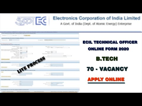 how-to-apply-ecil-technical-officer-online-application-form-fill-in-telugu#ecil2020||trendytech24x7