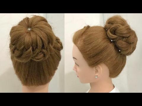 beautiful easy bun wedding