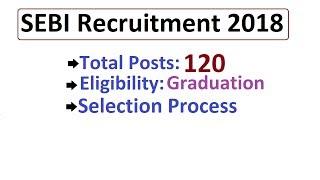 SEBI Recruitment 2018: Eligibility- B.Tech , Total Posts- 120, Selection Process