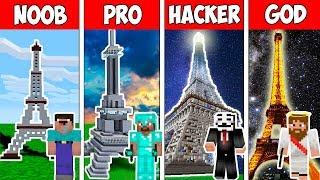 Minecraft NOOB vs PRO vs HACKER VS GOD : 130 YEARS EIFFEL TOWER in Minecraft ! AVM SHORTS Animation