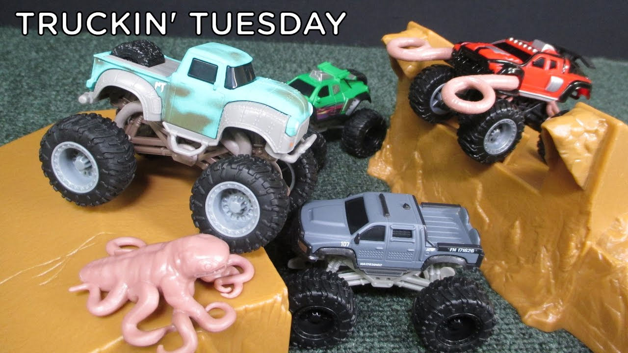 Truckin Tuesday Monster Trucks Movie Toys Ragin Red Big Rock