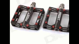 aest ympd 10t ultra light aluminium magnesium alloy pedals for road mountain bikes black pair
