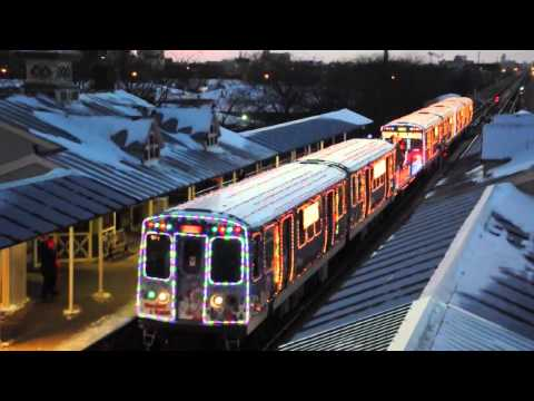 Cta Holiday Train Begins  Day Run On Pink Line