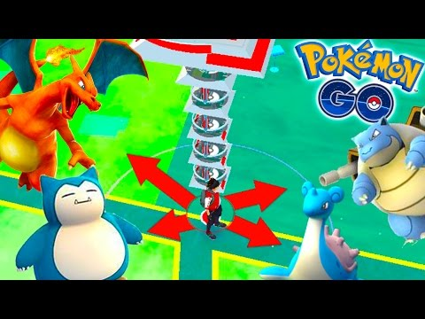I CAN'T BELIEVE THIS MAXED GYM! CHARIZARD, BLASTOISE, SNORLAX, LAPRAS & MORE in Level 10 Gym!