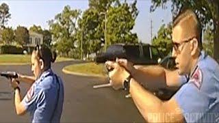Bodycam Footage of Officer Shooting Man Holding Pellet Gun in Raleigh, North Carolina