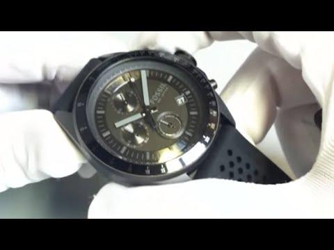 Men's Black Fossil Decker Chronograph Watch CH2703
