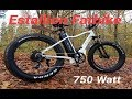 E-Bike Estallion 750 Watt  FATBIKE  (1000 Watt max)
