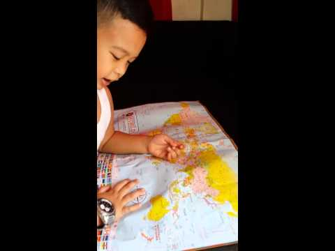 Zachary Cabrera Geography 4 year old
