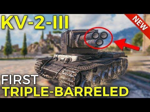 New KV-2-III, First Triple-Barreled Tank   World of Tanks KV-2-III Preview