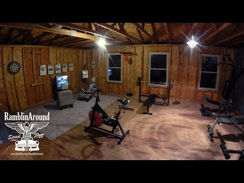 New Home Gym Setup - Weight Training And Boxing Equipment