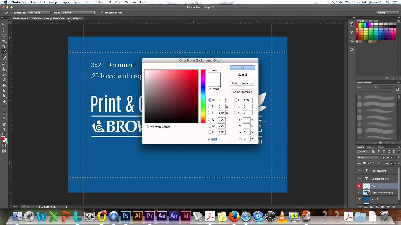 Photoshop How-To: Adding Bleeds and Crop Marks