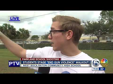 Students stage 'end of violence' walkout at West Boca Highs School