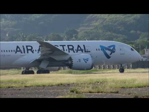 Air Austral take off Mayotte airport