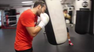 INSIDE PETER SIMS GYM / BAG WORK DRILL WITH PROSPECT JACK HEALY / iFL TV