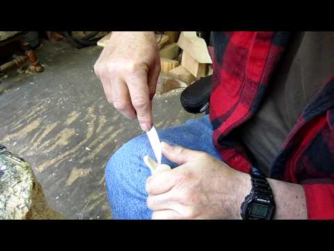 Carving a mini decoy