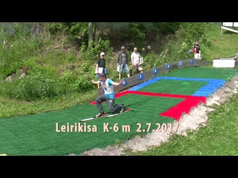 Leirikilpailu mäki K-6 m Lahti Karpalo 2.7.2017 LHS:n Ski jumping team Saukko  Kesäleiri