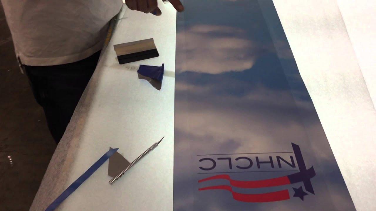 image about 3m Printable Vinyl called Printing Podium Wraps upon 3M Adhesive Vinyl