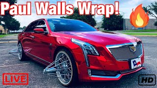 Paul Wall's NEW RED CHROME WRAP ! | Suede Wrap GONE !
