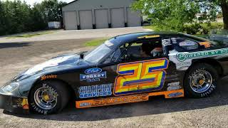 Wyatt with Brooks & Thiel Motorsports showing Bennett the car