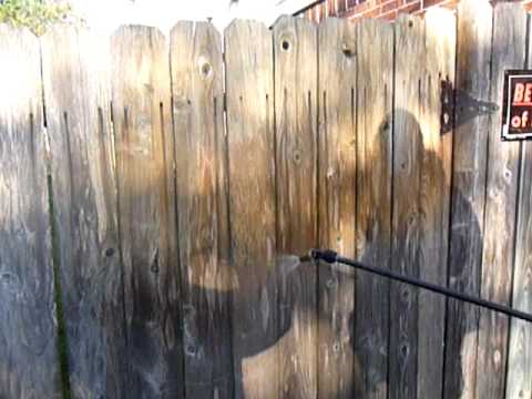 Power Washing A Wooden Fence By Katy Memorial Roof