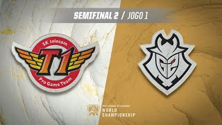 Mundial 2019: Semifinal 2 | SK Telecom T1 x G2 Esports (Jogo 1)
