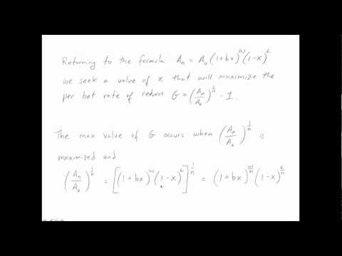 Mathematics of Gambling: the Kelly Formula