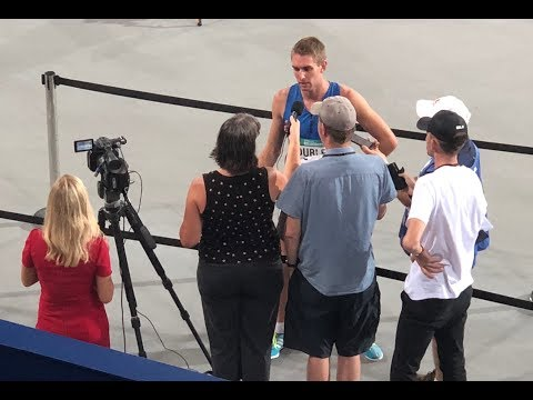 Radio and Newspaper interview rushes, Commonwealth Games Trial, Gold Coast - 17 Feb 2018, 7 minutes