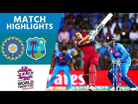 Simmons & Russell Upset Hosts! | India vs West Indies | ICC Men's #WT20 Semi-Final 2016 - Highlights