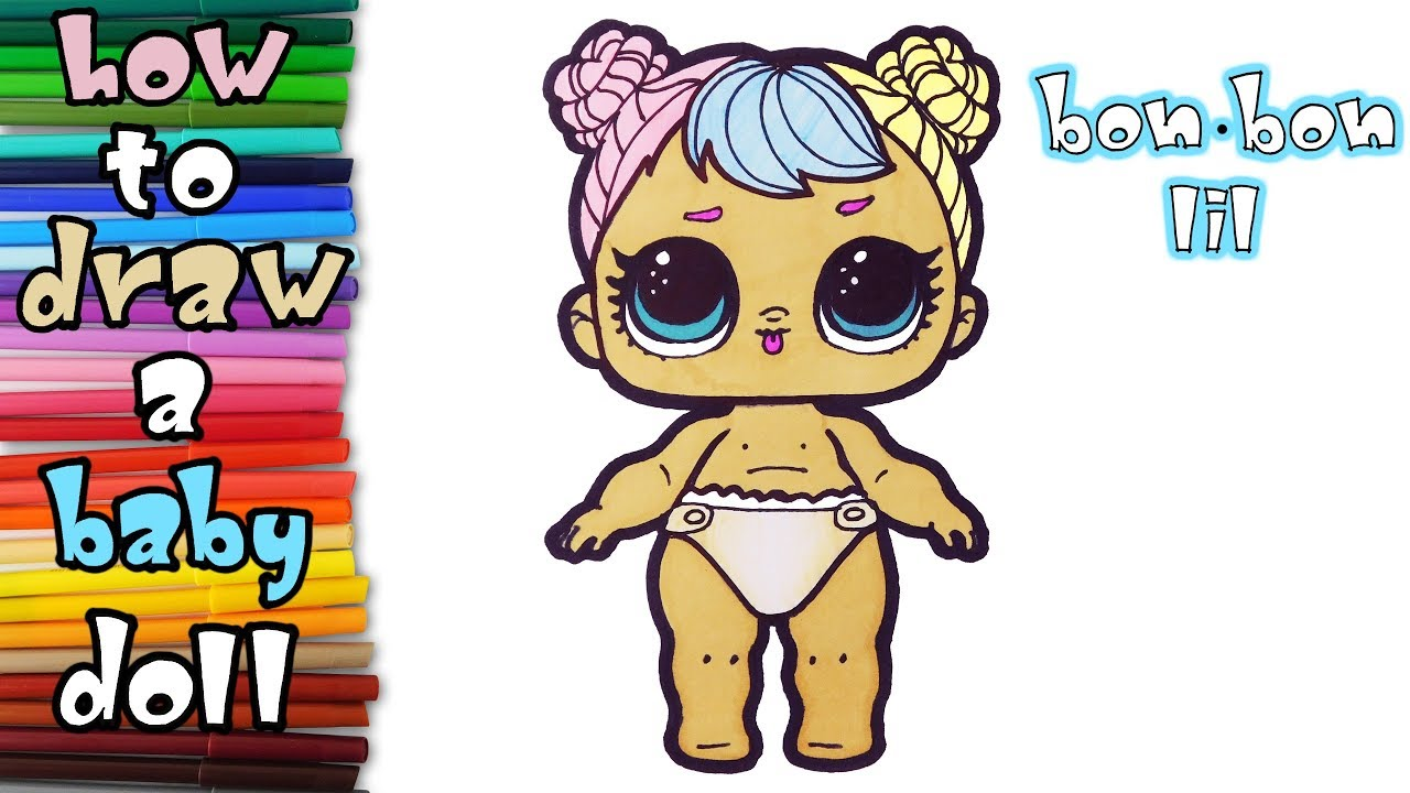 Lil Sisters Dolls How To Draw Lil Sister Bon Bon Art Colours For