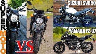 2017 yamaha fz 07 vs 2017 suzuki sv650   suzuki vs yamaha