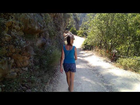 Пешком до каньона Гейнюк. Прокатились на зиплайне. Покушали Гёзлеме. Турция Кемер 2019