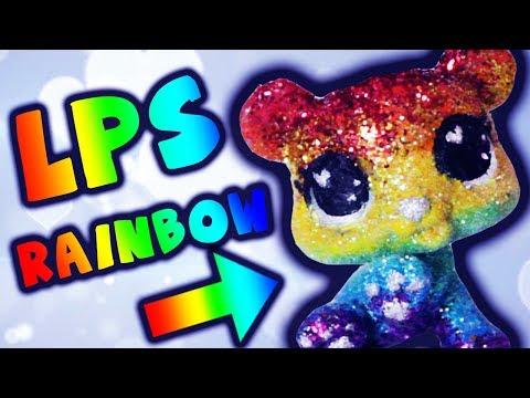 LPS Rainbow Glitter Bear Custom Tutorial DIY | Alice LPS
