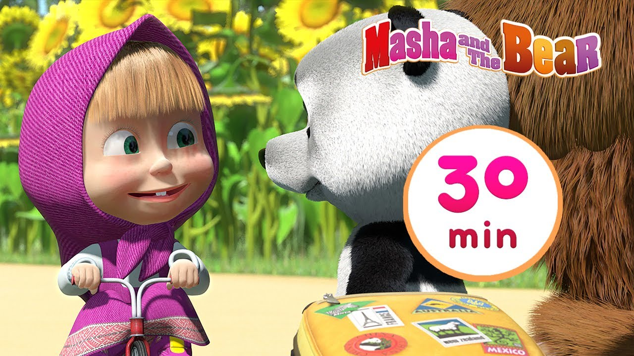 Masha and the Bear 🎍 Little Cousin 🐼  30 min ⏰ Сartoon collection 🎬