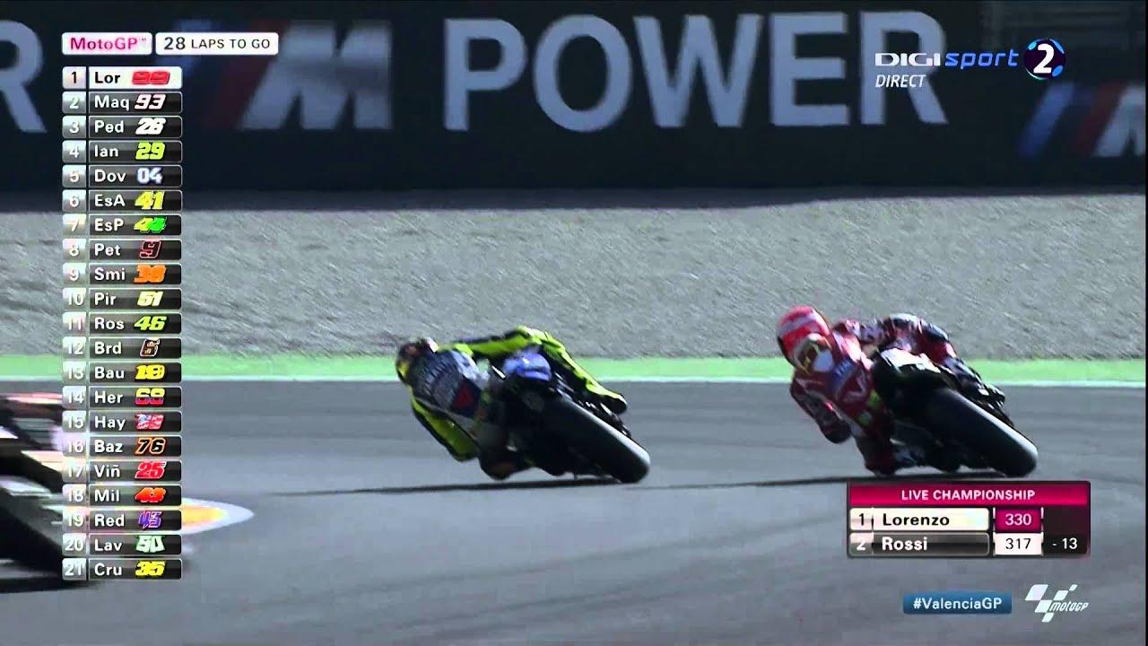 MotoGP - Valentino Rossi - Valencia 2015 - all overtakings