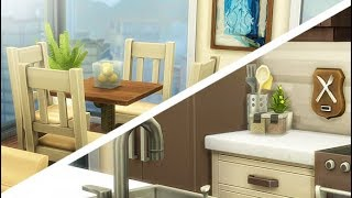 SMALL BOHO APARTMENT🌃🔑 | THE SIMS 4 // SPEED BUILD