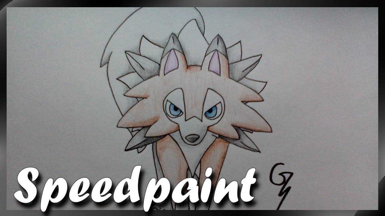 Lougaroc Forme Diurne Speed Drawing Pokemon Soleil Lune Youtube