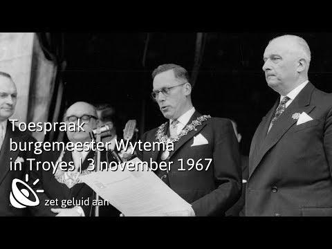 Toespraak Alkmaarse burgemeester Wytema in Troyes