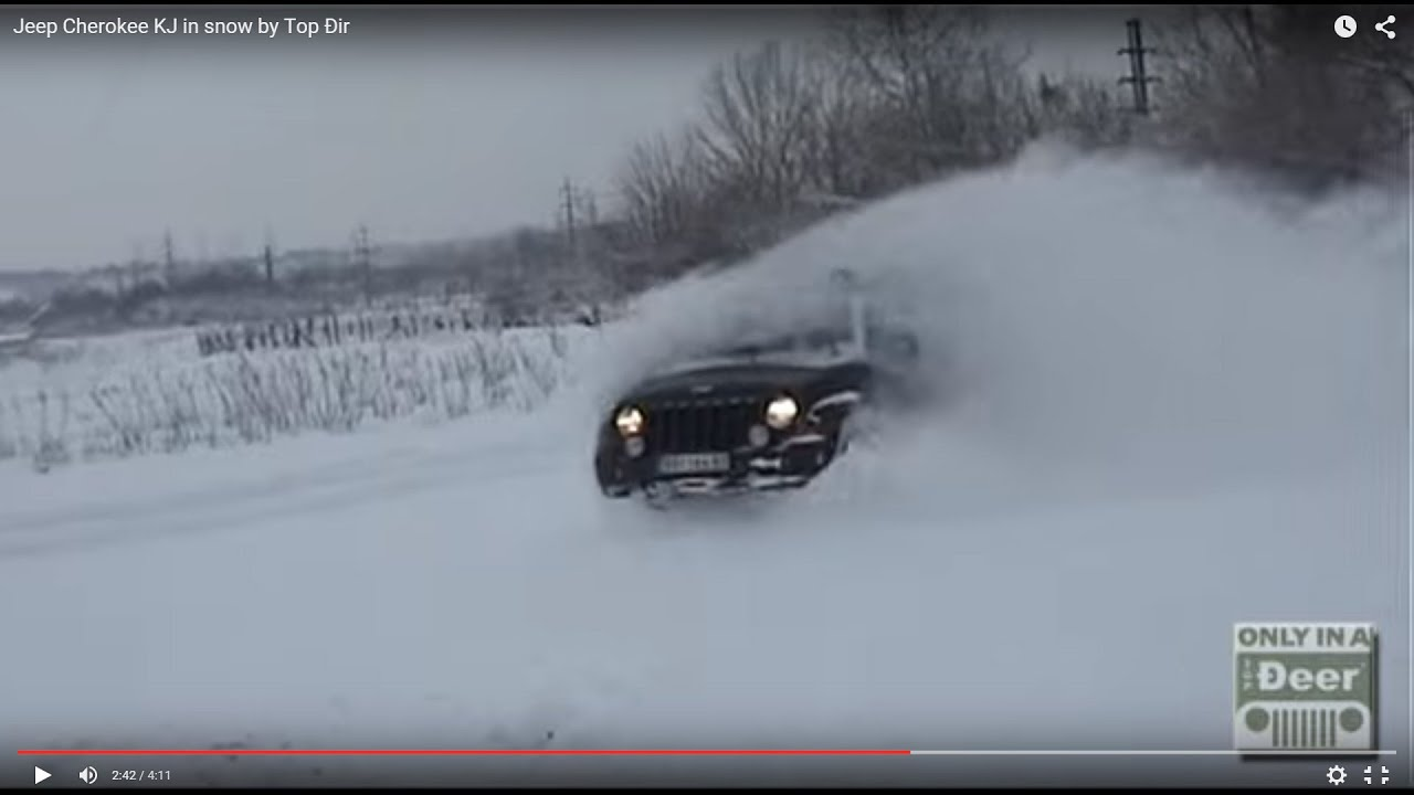 jeep cherokee kj in snow by top ir youtube. Black Bedroom Furniture Sets. Home Design Ideas