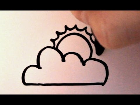 How to Draw a Cartoon Sun and Clouds