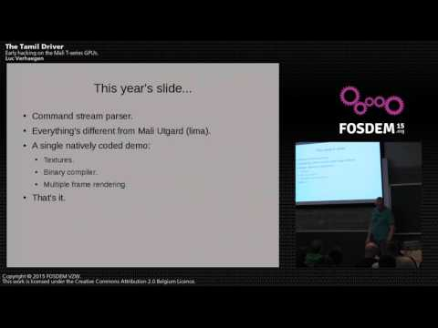 FOSDEM 2015 - Developer Room - Graphics - Tamil